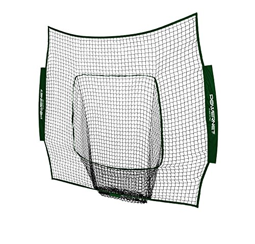 PowerNet Team Color Nets Baseball and Softball 7x7 Bow Style (NET ONLY) Replacement | Heavy Duty Knotless | Durable PU Coated Polyester | Double Stitched Seams for Extra Strength (Green)