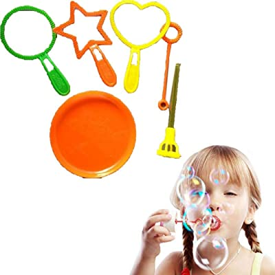 GoodKE Children Blowing Bubble Wand Toys Bubble Blower Set Outdoor Kids Gifts Bubbles: Toys & Games