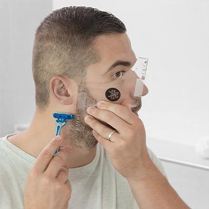 Plantilla guia para el afeitado diario hombres.Barba perfecta y en linega gracias al molde.Incluye peines.Talla única.Fácil y sencillo razor recortador para ...