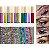 Ownest 10 Colors Liquid Glitter Eyeliner, Metallic Shimmer Glitter Eyeshadow, Long Lasting Waterproof Shimmer Sparkling…