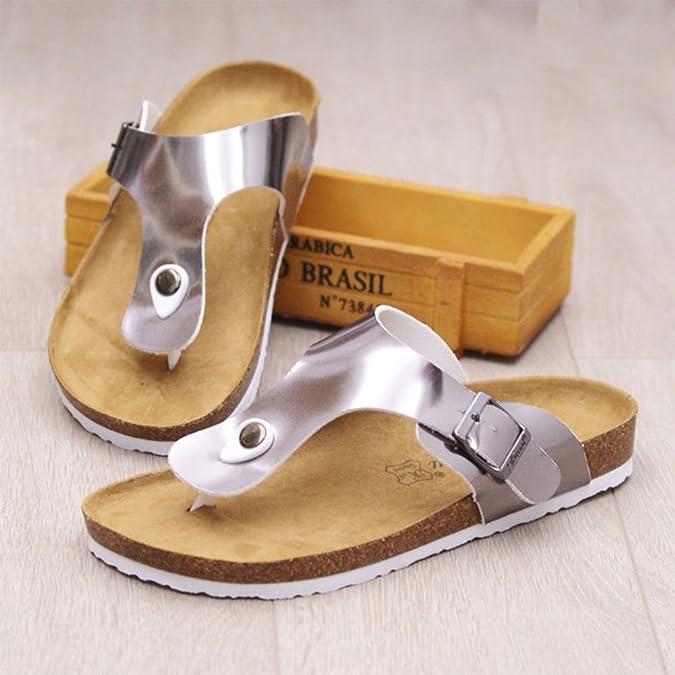 ZhuiKun Sandali Infradito Sughero - Donna Pantofole Eleganti Ciabatte Comodi  Argento EU 39  Etichetta 40  Amazon.it  Scarpe e borse 3ff3078e321
