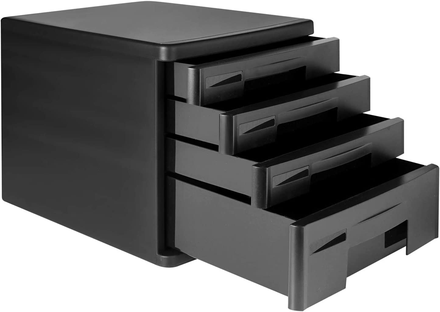 Office Desktop File Cabinet Organizer Drawer Home Office Suppliers Desktop File Documents Storage Box with 4-Tier Drawers Ultimate Desk Organization Cabinet for Document Letter and Tools