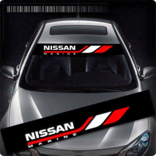 i Nissan Racing Versand erfolgt aus Deutschland innerhalb von maximal 48 Stunden Blendstreifen 130 cm Aufkleber Sticker Auto Tunig Decal+ Estrellina-Montage-Rakel/®,Estrellina-Gl/ücksaufkleber/® gedruckte Montageanleitung von myrockshirt
