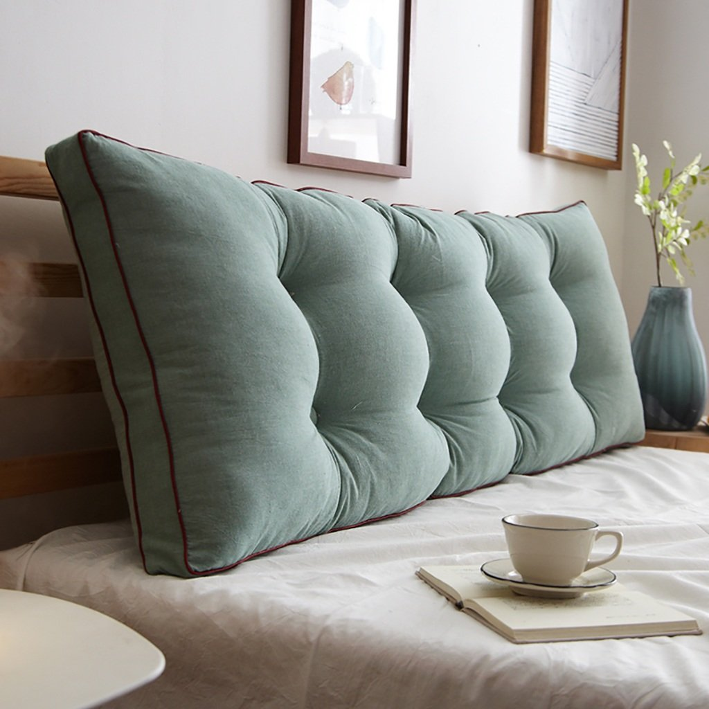 Color : A, Size : 120 * 15 * 50cm A variety of specifications optional HAIPENG-kaodian Cotton bed cushions sofa Back cushion Double long pillow Pillow Bedside big backrest