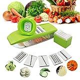 Mandoline Vegetable Slicer Adjustable with 5 Thickness Settings...