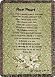 Manual Inspirational Collection 52 X 32-Inch Tapestry Throw, Prayer of St. Francis/Peace Prayer