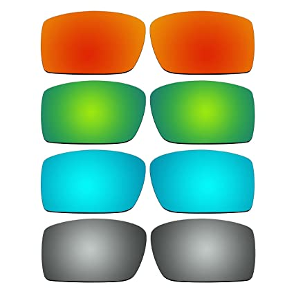 fdbea1962b Amazon.com  ACOMPATIBLE 4 Pair Replacement Polarized Lenses for Oakley  Gascan Sunglasses Pack P7  Sports   Outdoors