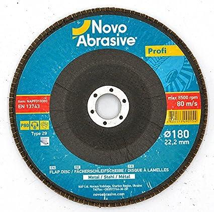 Lot de 10 disques ponçage à lamelles en inox à...