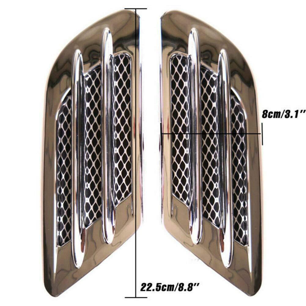 Autoadhesivo Etiqueta de ventilaci/ón de Aire Rejilla Lateral Kampre 2 Piezas de decoraci/ón para el autom/óvil veh/ículos ventilaci/ón Defensa de Flujo de Aire para la mayor/ía de los autom/óviles