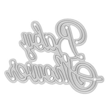 Gazechimp Molde de Plantilla de Troquelado de Corte de Metal para Tarjeta de Papel de Álbum Artesanía en Relieve de Bricolaje - Baby Shower: Amazon.es: ...
