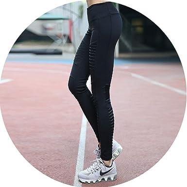 Amazon.com: Sprint-Love Leggings de malla plisada para mujer ...