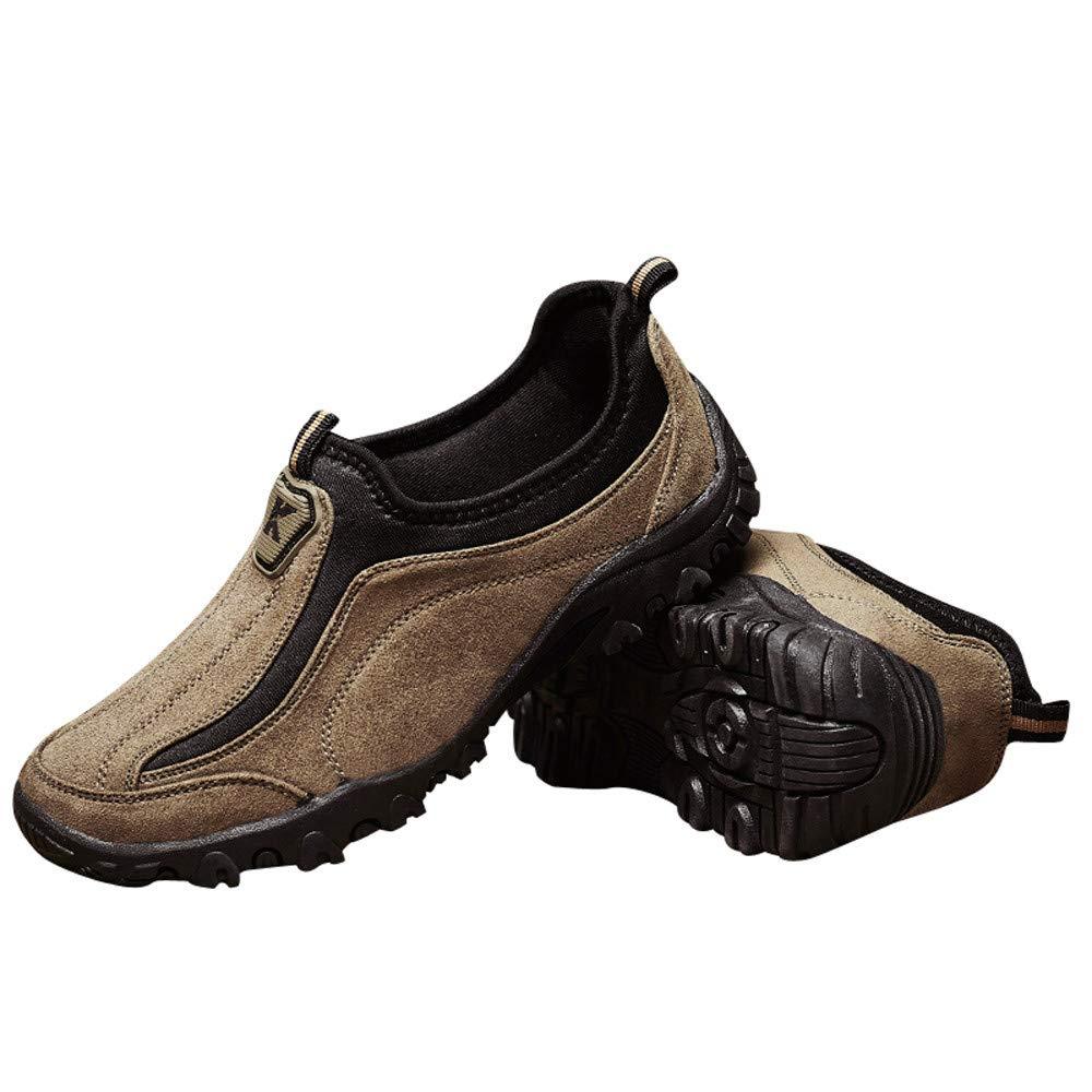 ❤ Zapatos de Senderismo para Hombres, Causal Alpinismo de Hombres clásicos al Aire Libre WRM Plus Terciopelo bajo para Ayudar a Zapatillas de Deporte de ...