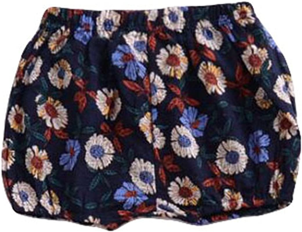 LOOLY Baby Girls Floral Bloomers Shorts Infant Flower Diaper Cover