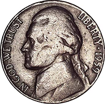 1943 D Jefferson Nickel Gem BU 35/% Silver