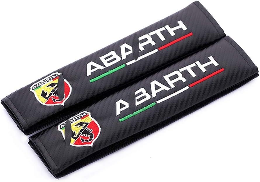Auto Effet Racing Prot/ège Respirante Bandouli/ère TYMDL 2Pack Fibre de Carbone Voiture Housse Ceinture S/écurit/é Coussinets pour Abarth