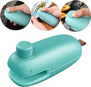 Mini Bag Sealer, 2 in 1 Heat Sealer and Cutter Handheld, Portable Bag Heat Resealer Sealer Quick Seal for Food Vacuum Sealer Bags, Plastic Chip Bags, Food Storage Snack Fresh Bag Snack & Cereal Bags