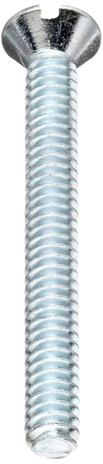 Steel Machine Screw Fully Threaded Meets ASME B18.6.3 1//2 Length Pack of 100 #12-24 UNC Threads Flat Head Zinc Plated Finish Slotted Drive