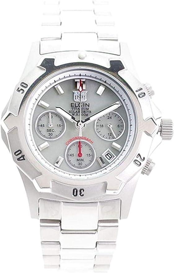 [エルジン] 腕時計 FK1424TI-BR メンズ シルバー
