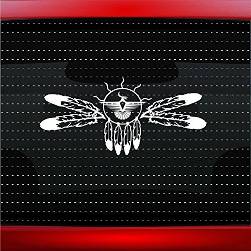 Dreamcatcher #5 Indian Native American Car Sticker Truck Window Vinyl Decal COLOR: WHITE]()