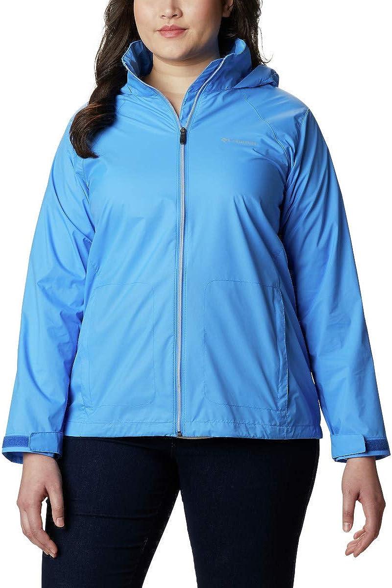 Columbia Women's Plus Size Switchback Iii Jacket, Harbor Blue, 1X