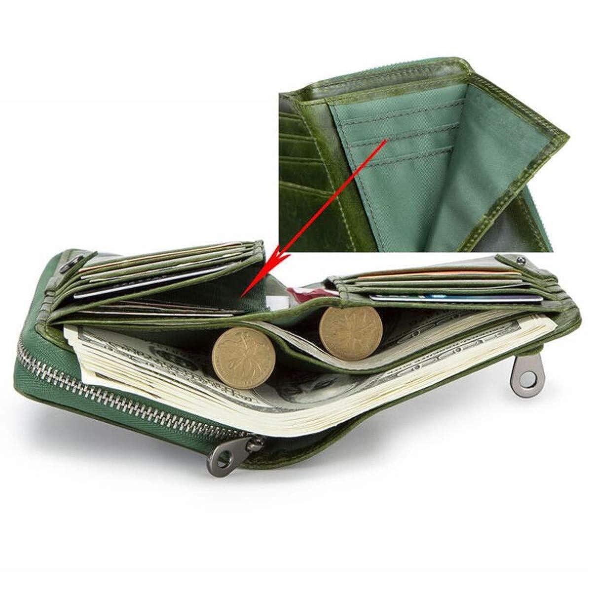 961cf666c939 LJYH Women's Coin purse Genuine Leather Bifold Wallet Multi-Card ...