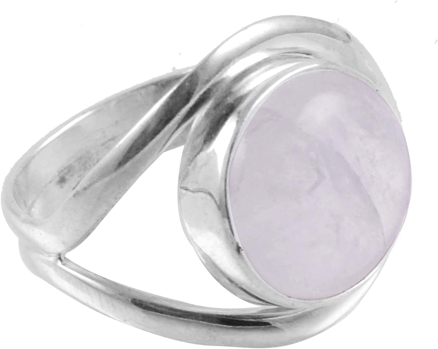 Natural Pink Jade Handcrafted Women Jewelry R 925 Solid Sterling Silver Ring