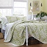 Floral Quilt Set on Clearance Sale 100% Cotton for Comfort Bedding, Sage, King