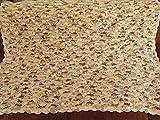 Cotton Crochet Baby Blanket, Beige Tones