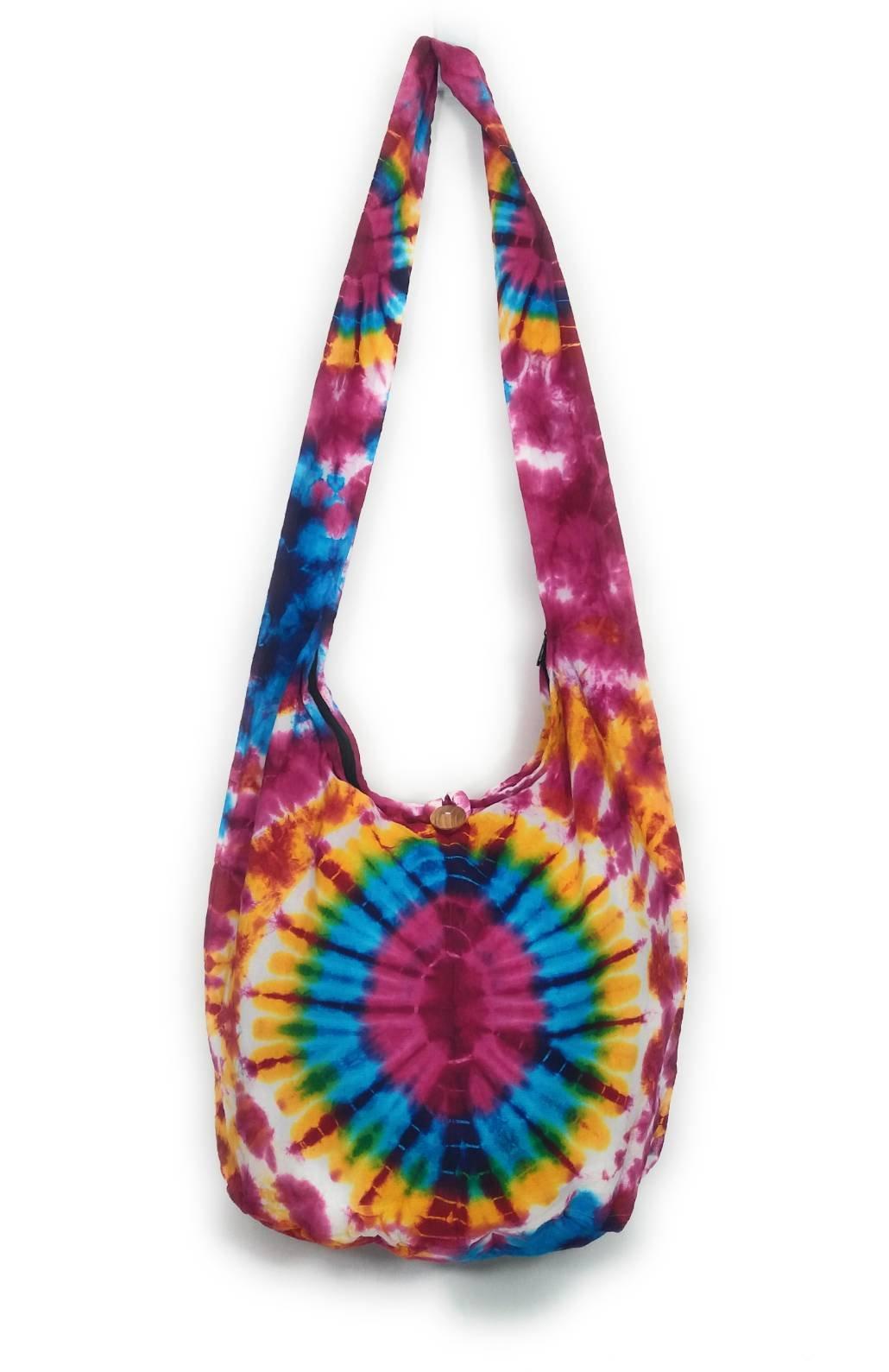 Kraft4Life NEW!! Tie Dye Hippie Hobo Boho Sling Crossbody Shoulder Messenger Bag Bohemian (012)