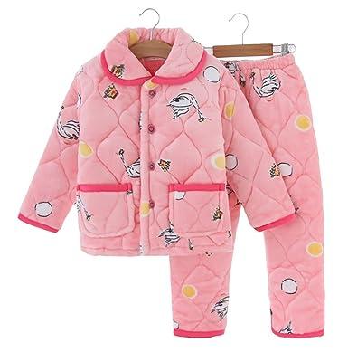 4f1f1013e3cc Amazon.com  YVWTUC Boys and Girls Flannel Pajamas Thick Coral Fleece ...