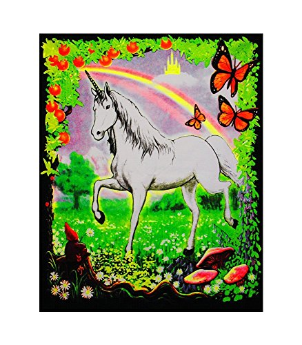 Opticz Unicorn Black Light Tapestry