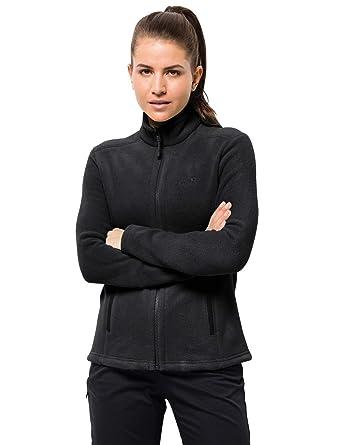 on sale 26775 55672 Jack Wolfskin W Moonrise JKT, Damen Jacke aus robustem & recyceltem Fleece,  Outdoor Jacke für Damen mit kurzem Systemreißverschluss, kombinierbare ...