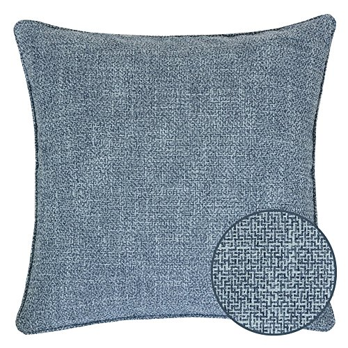 - Homey Cozy Linen Textured Blue Throw Pillow Cover,Linen Woven Series Blue Large Sofa Couch Decorative Pillow Case Western Home Decor 20x20, Cover Only