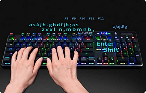 Td tastiera meccanica mouse gioco retroilluminazione asse blu