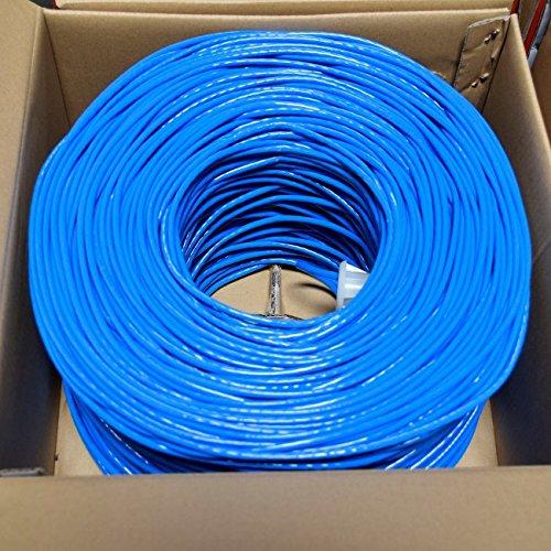 Price comparison product image Premiertek 1000Ft Cat6 23AWG UTP Solid 4-pairs Network Ethernet LAN Cable Bulk Blue (CAT6-CCA-1KFT-BL)
