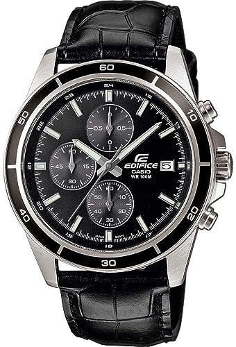 a7d334fc7d5e Casio Reloj Analogico para Hombre de Cuarzo con Correa en Cuero EFR-526L-1AVUEF   Amazon.es  Relojes