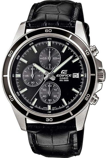 bfa1c35d7c1b Casio Reloj Analogico para Hombre de Cuarzo con Correa en Cuero  EFR-526L-1AVUEF  Amazon.es  Relojes