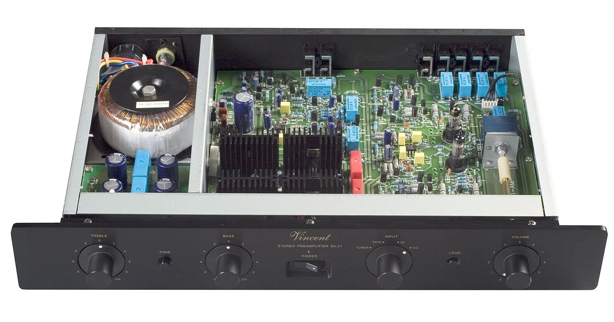 Vincent Audio - SA-31 Hybrid Stereo Preamplifier - Black by VINCENT