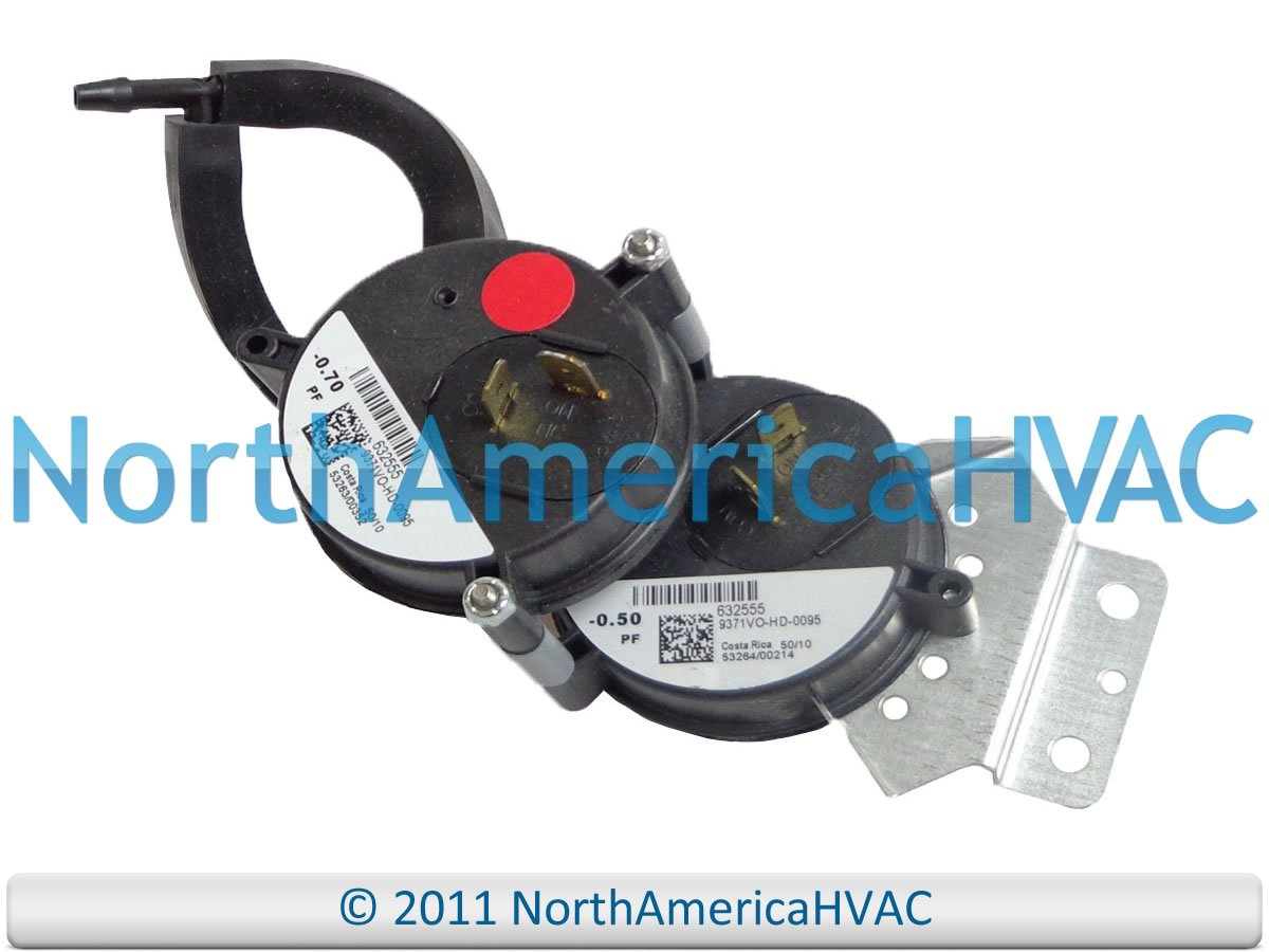 .70 Gibson OEM 2 Stage Furnace Replacement Air Pressure Switch .50 632555