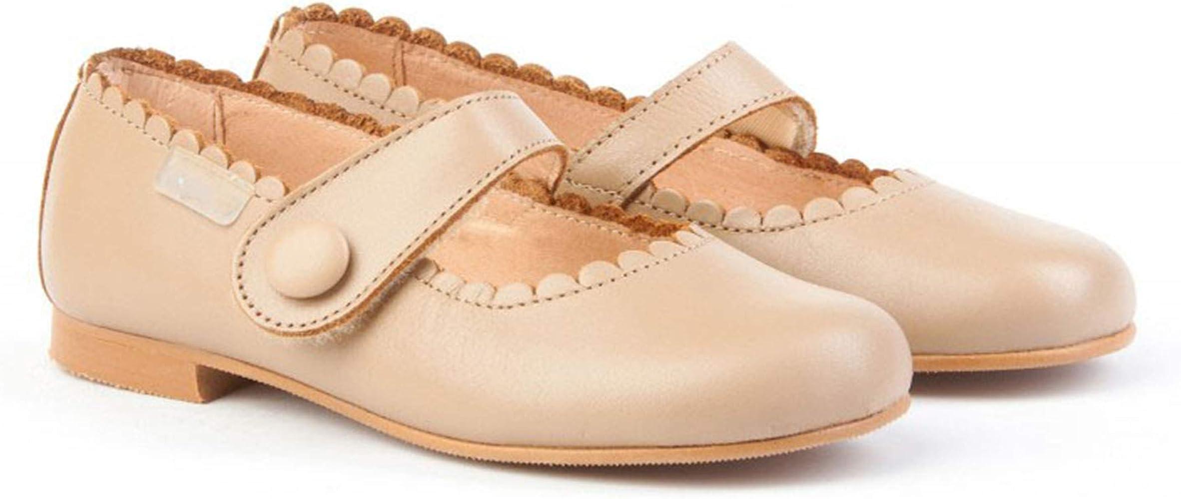 Zapatos Merceditas de niña con Cierre de Velcro. Este Zapato Francesita está Fabricado en Piel y Hecho en España - Mi Pequeña Modelo 1512I Color Camel.: Amazon.es: Zapatos y complementos
