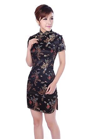Short Cheongsam Chinese Dress