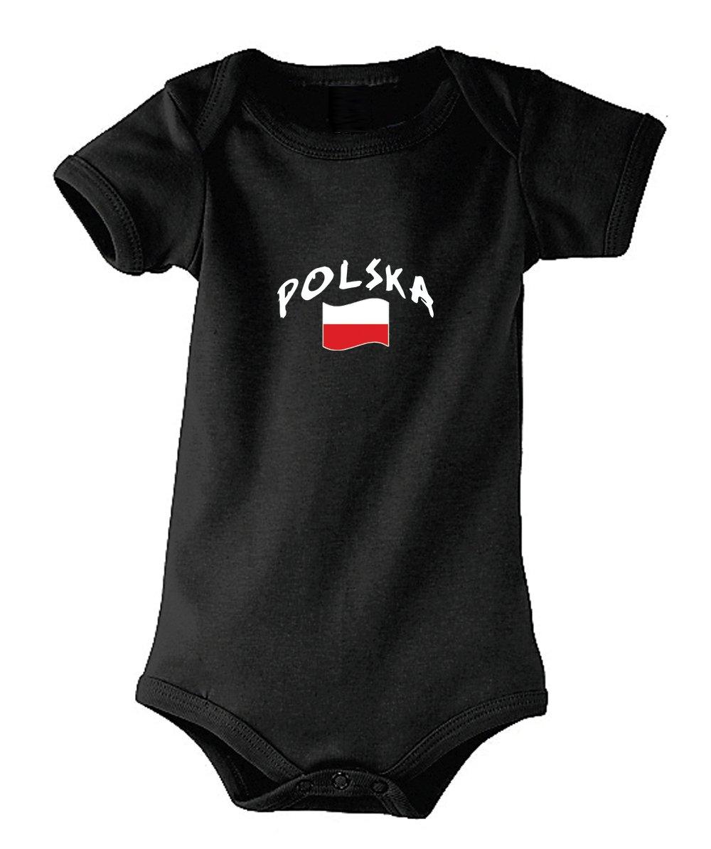 Supportershop Body Polonia Unisex bambino, Nero, Fr: S (taglia produttore: 3–6mesi) SUPQM|#Supportershop 5060542524766
