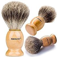 Perfecto 100% Original Pure Badger Brocha de afeitar. Diseñado para el mejor afeitado de tu vida. Para todos los métodos, navaja de afeitar, maquinilla de doble filo, maquinilla de afeitar Staight o maquinilla de afeitar, tu mejor cepillo para tejón.