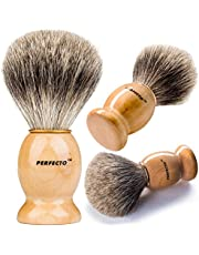 (Original) - Perfecto 100% Pure Badger Shaving Brush--Now with choice of Original or Black and Silver handle