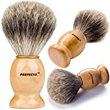 Perfecto 100% Original Pure Badger Shaving Brush-Now On Sale!!! Engineered to deliver the Best Shave of Your Life!!! No Matter what method you use, Safety Razor, Double Edge Razor, Staight Razor or Shaving Razor, This is the Best Badger Brush!!!