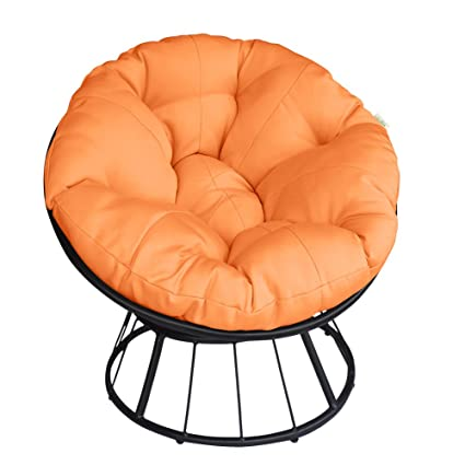 ART TO REAL Deluxe 360 Swivel Papasan Chair With Soft Cushion, Outdoor  Patio Swivel Glider