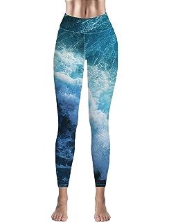 Custom Leggings Women High Waist Soft Yoga Workout Stretch Printed Gradient Orange Stretchy Capris Pants