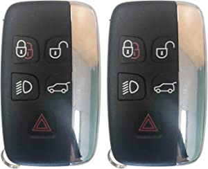 NEW Replacement for Land Rover 2012-2017 Range Rover Evoque Sport Remote Key Fob 5 Btn 315MHz FCCID:KOBJTF10A,by AUTOKEYMAX (PAIR)
