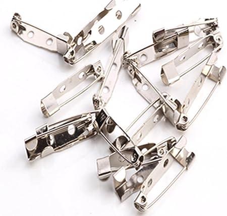 New 50pcs//Bag Safety Brooch Catch Bar Locking Pin Clasp Fastener Craft 20-38NHI