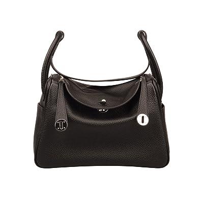 17ef9bf4405e Ainifeel Women s Genuine Leather Shoulder Handbag And Purse Hobo Bag (Black)